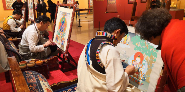 Number of Thangka painters boosted in Tibet amid governmental support to protect the ancient art