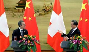 Wang Yi Holds the First Round of China-Switzerland Foreign Ministers