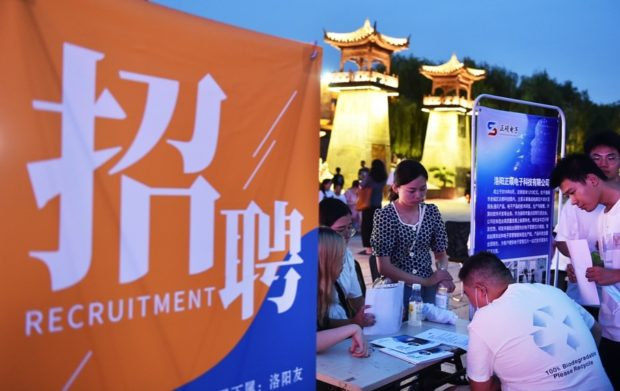 China sees stable recovery of employment
